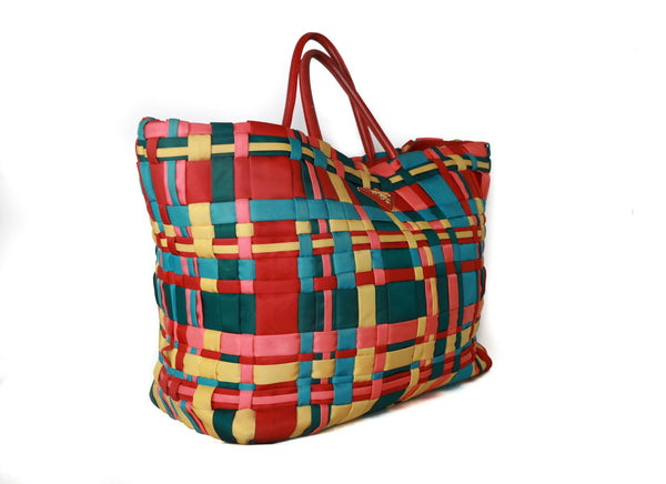 Prada Multicolor Weave handbag