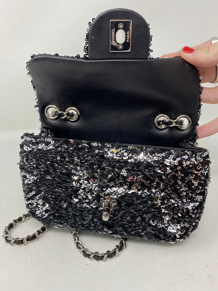 Chanel Mini Sequin Flap Bag