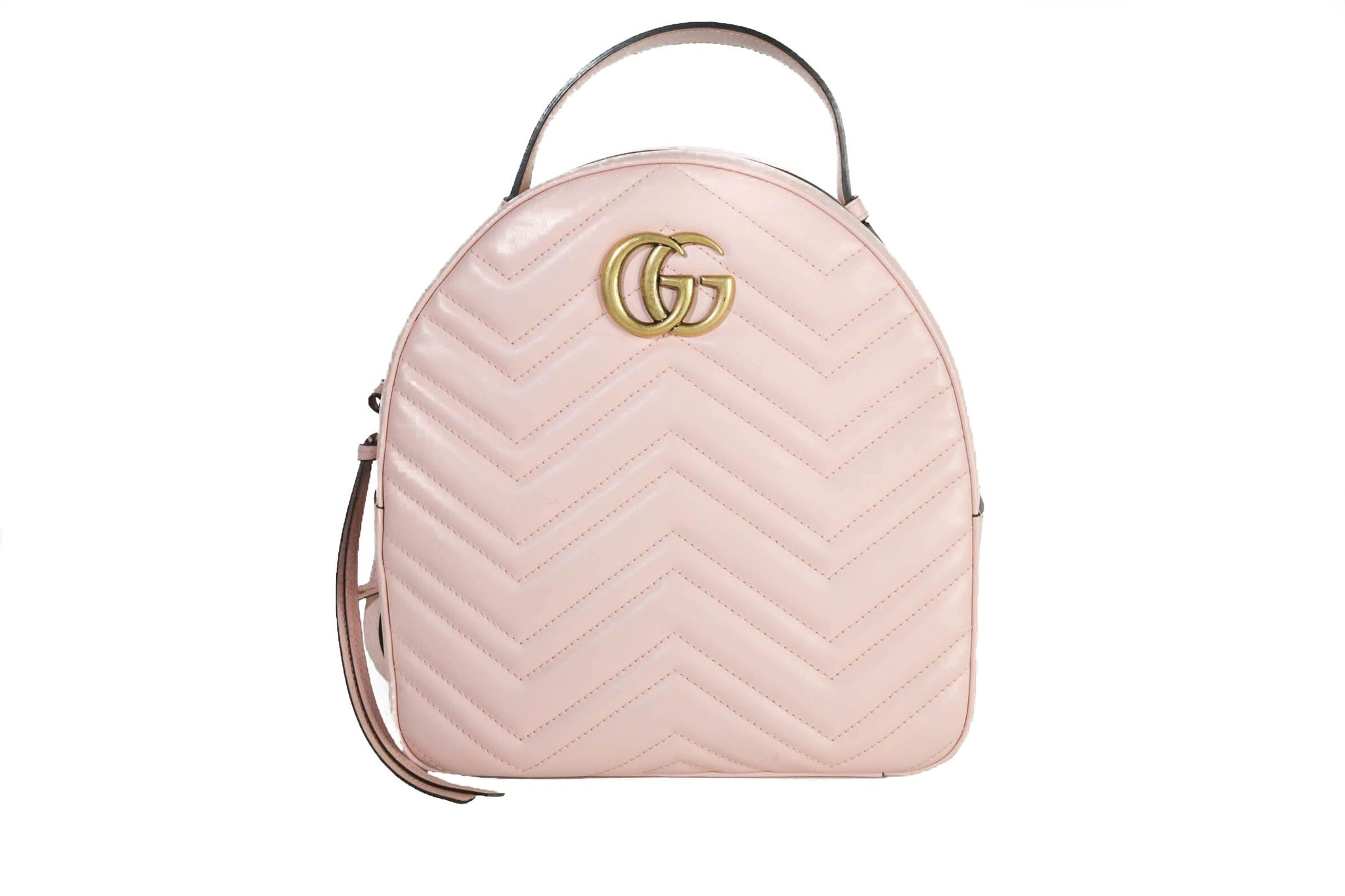 Gucci Pink quilted chevron Backpack