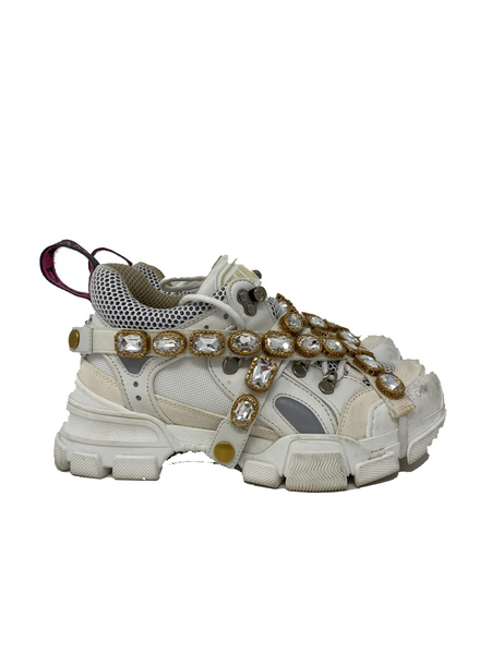 Gucci Flashtrek sneakers with removable crystals size 36.5