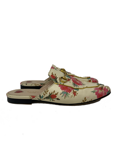 Gucci Princetown Floral Print Loafers size 41