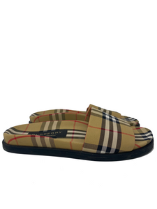 Burberry Mens Plaid Slides size 43.5