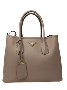 Prada Saffiano Leather Double Bag Beige/Pink
