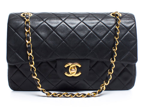 Chanel Black Small Lambskin Double Flap Bag GHW