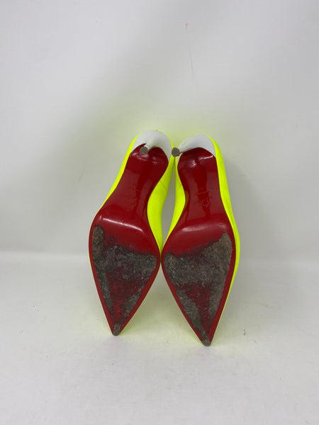 Christian Louboutin So Kate 120 Jaune/White size 42