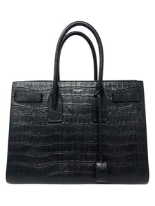 Saint Laurent Calfskin embossed Medium Sac De Jour Handbag