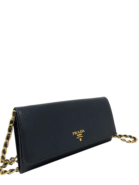 Prada Saffiano Leather Wallet on Chain Handbag