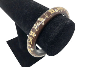 Louis Vuitton Acrylic Bracelet with Charm inlays