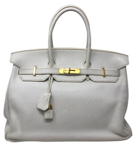 Hermes Birkin 35 White Togo Leather handbag