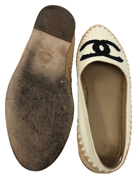 Chanel Espadrille flats size 38