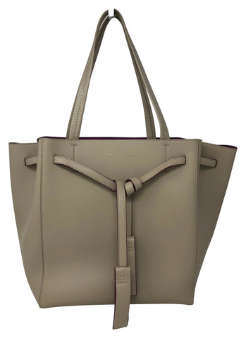 Celine Cabas Phantom handbag Beige with Purple interior