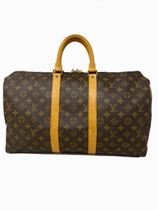 Louis Vuitton Monogram Canvas Keepall 45 Luggage handbag