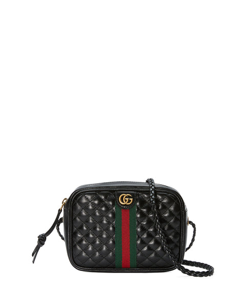 Gucci Quilted Zip Camera Crossbody Handbag