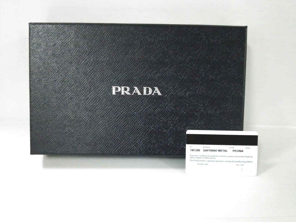 c32a889c5f39 Prada Pink Saffiano Leather Chain Wallet WOC GHW – Sacdelux