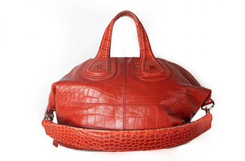 Givenchy Red Croc Print Tote handbag