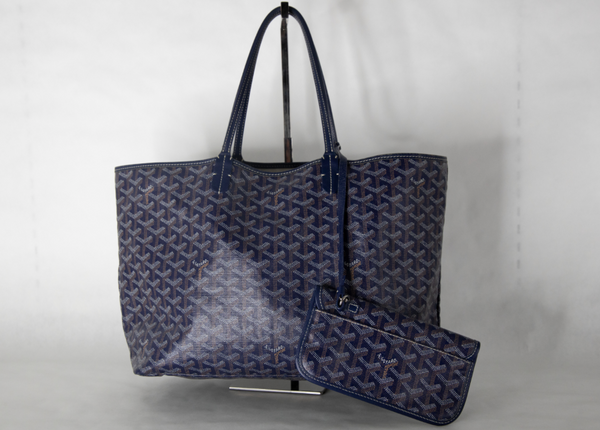Goyard Navy St Louis PM Tote Bag