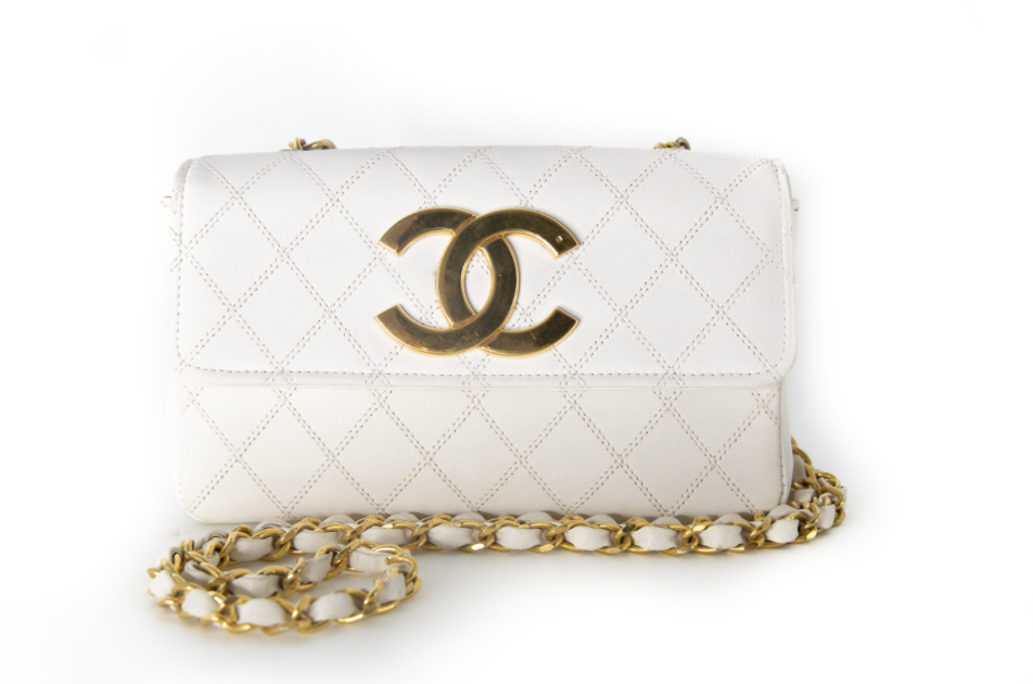 Chanel Vintage Mini flap Handbag white