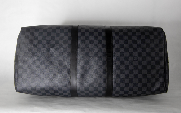 Louis Vuitton Damier Graphite Canvas Keepall 55 Bandouliere Luggage handbag