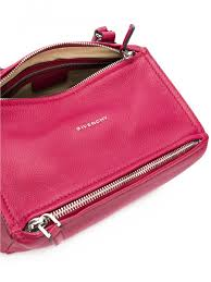 Givenchy Pandora Small Fuchsia Grained Leather Tote Bag