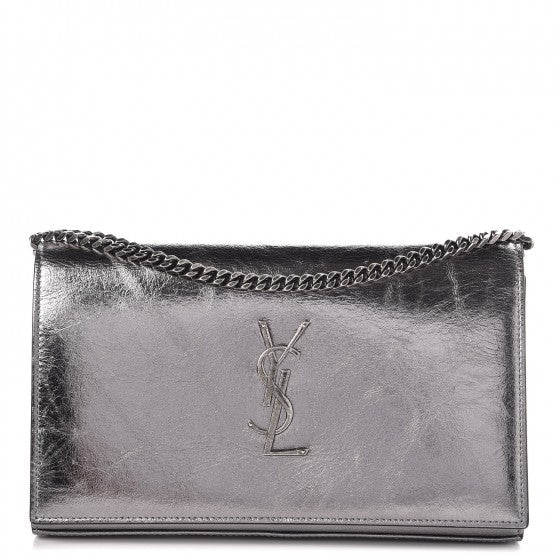 saint Laurent metallic crackled calfskin monogram WOC