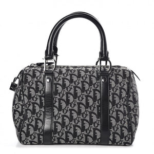 CHRISTIAN DIOR Monogram Boston Black