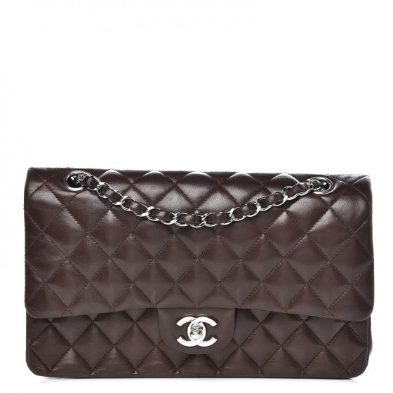 Chanel Lambskin Quilted Medium Double Flap Brown
