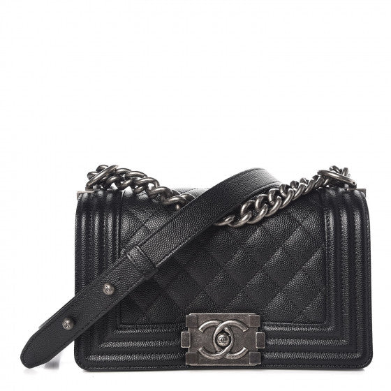 Chanel small black boy bag