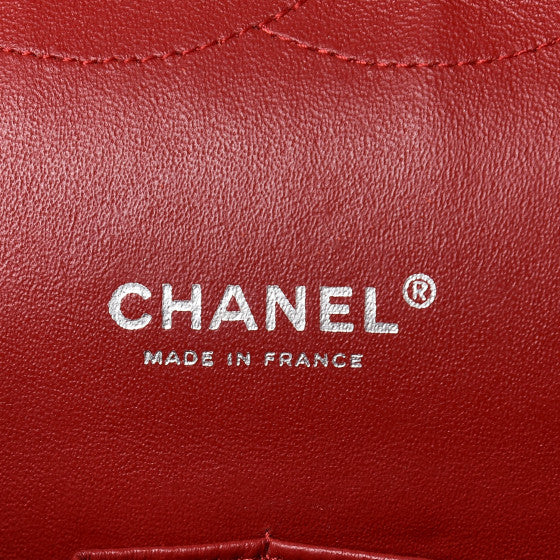 Chanel Patent Quilted Maxi Double Flap Red