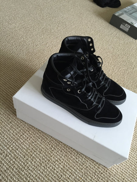 Monochrome High-Top Sneaker