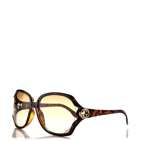 Gucci Square tortoise shell frame with brown lenses GG 2986/S