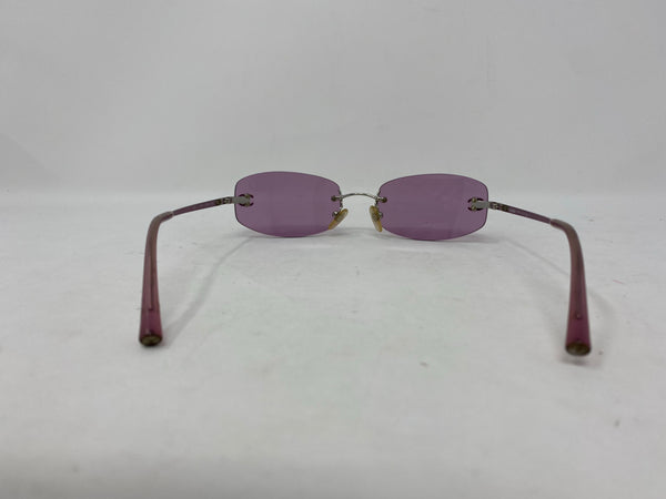 Chanel Vintage Rimless Sunglasses with CC detail