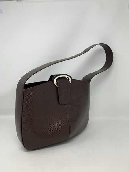 Louis Vuitton Reverie Epi Leather Shoulder Bag Brown