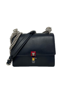 Fendi Kan I Black Calfskin Small Shoulder Bag