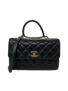 Chanel Medium Trendy CC Top Handle Black Quilted Lambskin