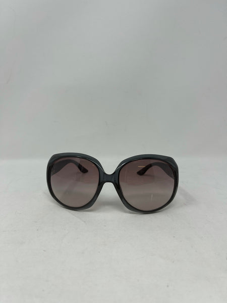 Dior Glossy 1 translucent grey oversized sunglasses