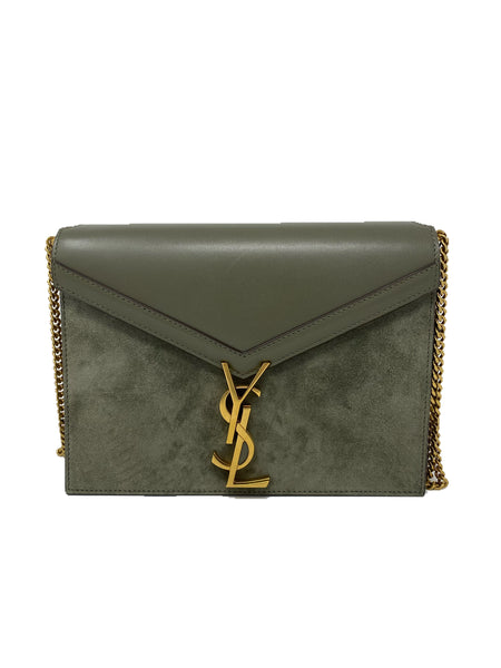 Saint Laurent Cassandra Olive Green Handbag