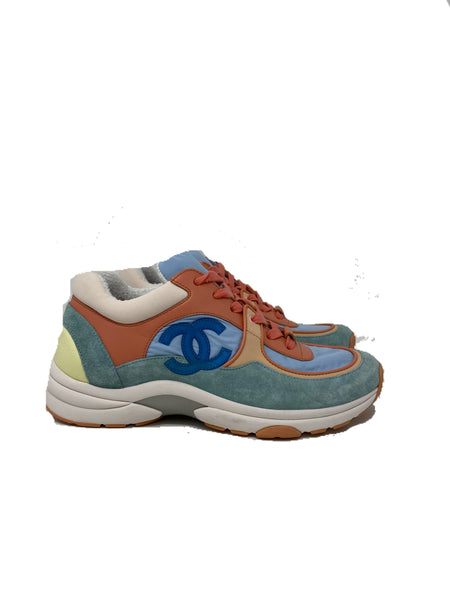 Chanel pastel multicolor sneakers size 38