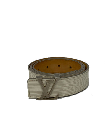 Louis Vuitton Epi 30mm LV initials belt 80cm/32in Ivory