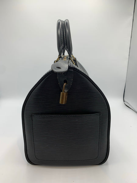Louis Vuitton Black Epi Leather Speedy 30
