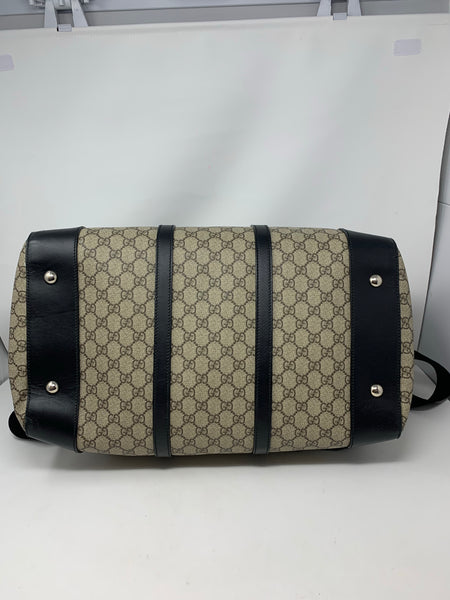 Gucci Convertible Duffle GG Coated Canvas