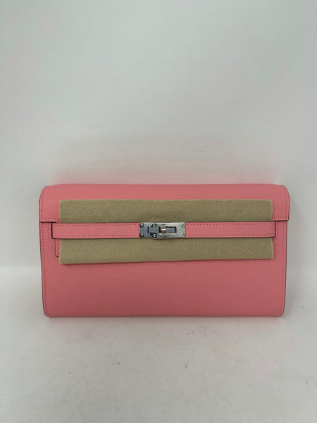 Hermes Kelly To Go Rose Confetti Epsom Leather PHW