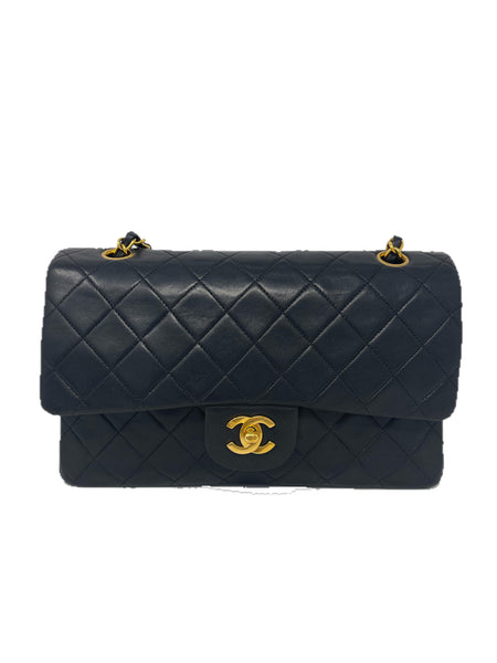 Chanel Medium Double Flap Vintage Black Lambskin