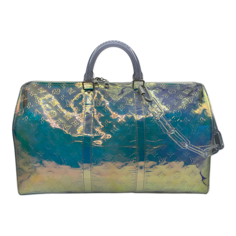 Louis Vuitton PVC Monogram Keepall 50 Bandouliere Iridescent Prism