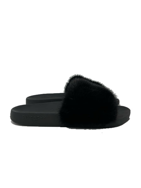 Givenchy Mink Fur and Rubber Sandals size 42