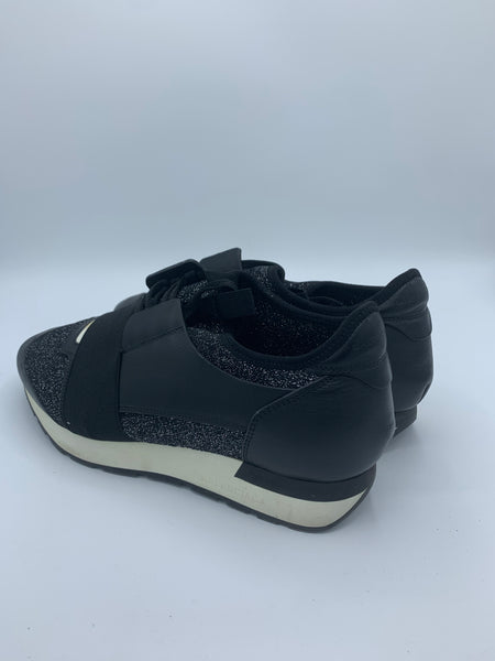 Balenciaga race runner sneakers Black & Sparkly EU 41