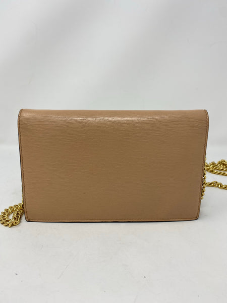 Gucci Beige Interlocking G Chain Wallet handbag
