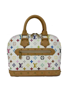 Louis Vuitton Monogram Multicolor Alma White