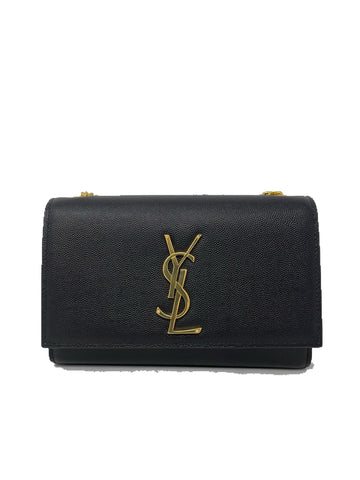 Saint Laurent Kate Small textured Calfskin Black Handbag