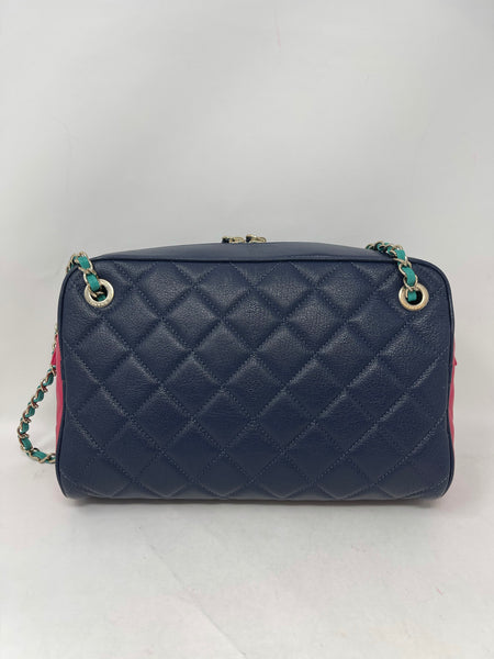Chanel Tri-Color Camera Bag Goatskin