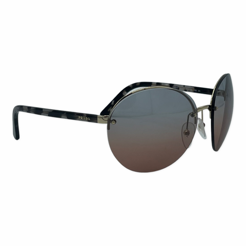 Prada SPR68V round eye sunglasses with gradient lenses